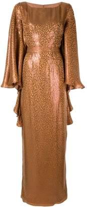 Safiyaa London leopard print empire dress