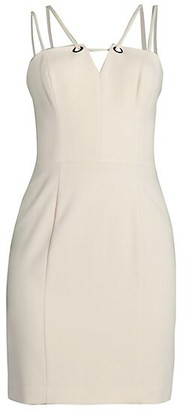 Black Halo Delia Mini Sheath Dress