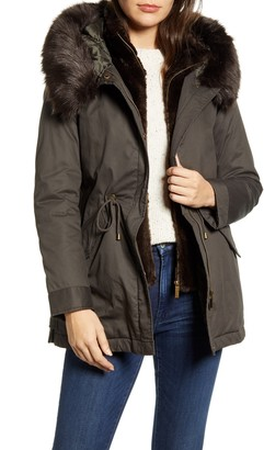 French Connection Faux Fur Hooded Parka