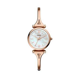 Fossil Women Mini Carlie Quartz Stainless Steel and Stainless Casual Watch Color: