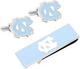 Cufflinks Inc. Men's North Carolina Tarheels and Money Clip Gift Set