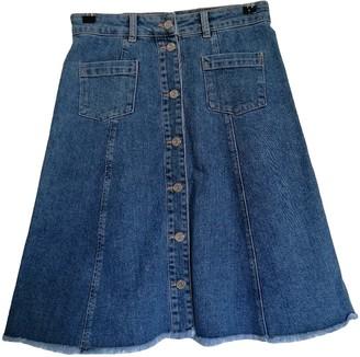 Ganni Blue Denim - Jeans Skirt for Women