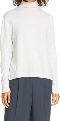 Vince Mock Neck Step Hem Wool & Cashmere Sweater
