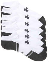 Under Armour Resistor 3 No Show Socks - 6 Pack - Men's
