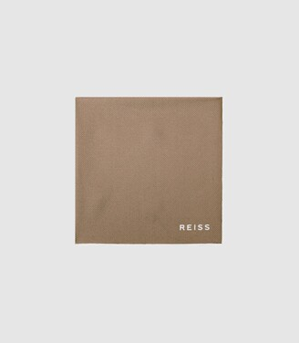Reiss Moon - Silk Pocket Square in Champagne