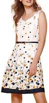 Yumi Buttercup Spot Belt Dress, Ivory
