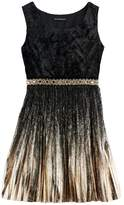 My Michelle Girls 7-16 Foil Pleated Velvet Dress