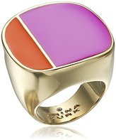 "Trina Turk Retro Sport"" Two Tone Gold Ring, Size 7"