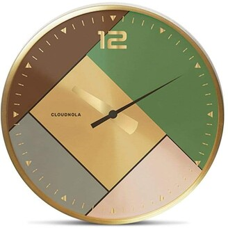 Apt2B Rubik Wall Clock by Cloudnola GOLD/BRUSHED GOLD