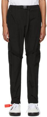 Off-White Black Nylon Cargo Pants