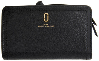 Marc Jacobs Black The Softshot Compact Wallet