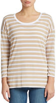 Context Striped Layered-Effect Top