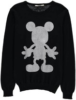 Little Eleven Paris Riley Mickey Glitter Sweatshirt