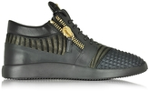 Giuseppe Zanotti Multicolor Leather and Suede Sneaker