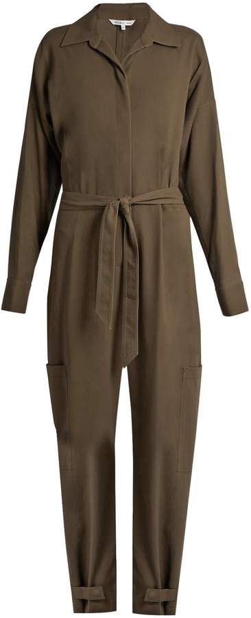 Helmut Lang Patch pocket cotton jumpsuit