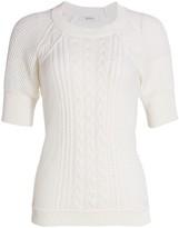 Max Mara Austero Short-Sleeve Cable-Knit Sweater