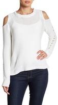 Line Cold-Shoulder Sweater