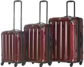 Burgundy Triad Spinner Three-Piece Luggage Set
