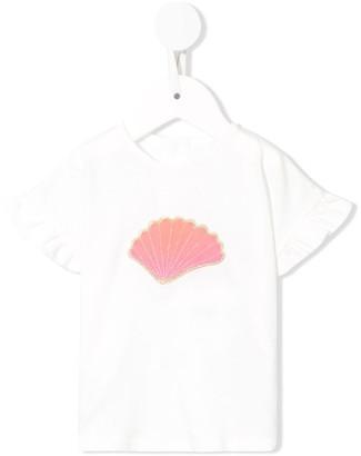 Chloé Kids jersey T-shirt and short seashell set