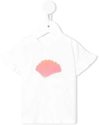 Chloé Kids jersey T-shirt and short seashell set