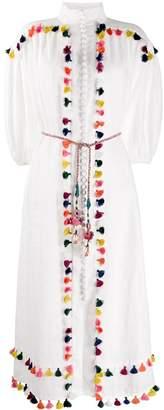 Zimmermann Tassel Embroidered Midi Dress