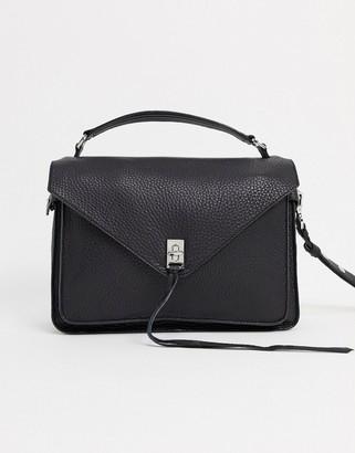 Rebecca Minkoff darren leather messenger bag in black