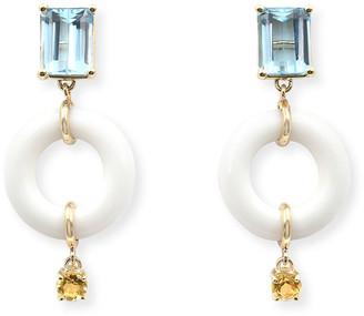 BONDEYE JEWELRY Emerald-Cut Powdered Munchkin Drop Earrings