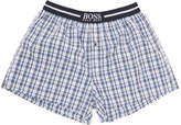 HUGO BOSS Two-Pack Navy and Blue Check Printed Boxers