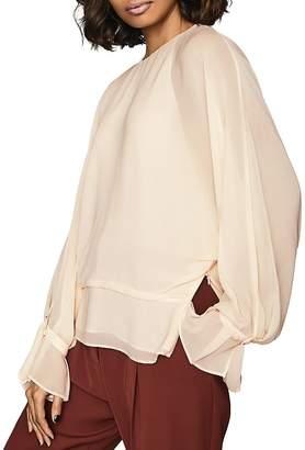 Reiss Eboni Layered Long-Sleeve Blouse