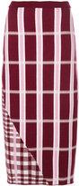 Victoria Beckham checked skirt - women - Polyamide/Spandex/Elastane/Wool - 1