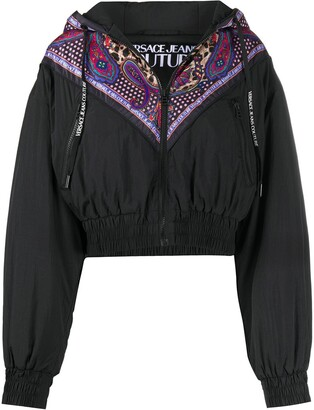 Versace Jeans Couture Cropped Mix-Print Windbreaker