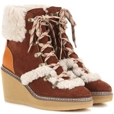 See by Chloe Lace-up Suede Platform Ankle Boots