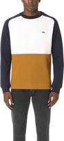 Lacoste Brushed Pique Fleece Colorblock Sweatshirt