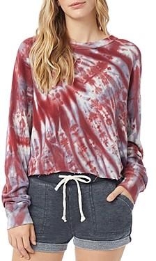 Alternative Washed Terry Tie-Dye Boyfriend Sweatshirt