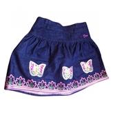 Christian Dior Blue Cotton Skirt