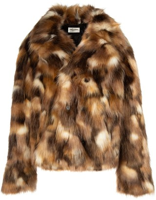 Saint Laurent Collared Fur Coat