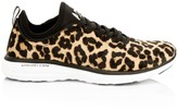 Athletic Propulsion Labs Women's TechLoom Pro Leopard-Print Calf Hair Sneakers