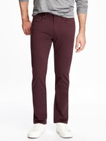 Old Navy Slim Built-In Flex Brushed-Twill Pants for Men