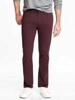 Old Navy Slim Built-In Flex Brushed-Twill Pants for Men