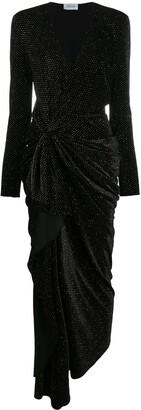 Redemption Glitter Asymmetric Wrap Dress