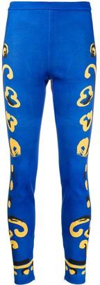 Moschino Matador print leggings