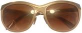 Burberry Gold Plastic Sunglasses