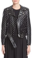 Comme des Garcons Polka Dot Faux Leather Moto Jacket