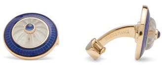Deakin & Francis Round Sapphire & 18kt Gold Cufflinks - Gold