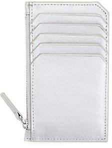 ROYCE New York Women's Zip Metallic Leather Card Wallet