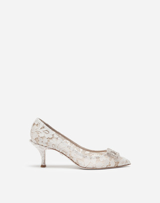 Dolce & Gabbana Taormina Lace Pumps With Amore Logo
