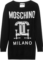 Moschino Intarsia wool mini sweater dress