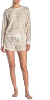 PJ Salvage Team Tequila Striped Lounge Shorts