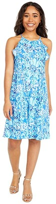 Lilly Pulitzer Billie Dress (Saltwater Blue Suns Out Funs Out) Women's Dress