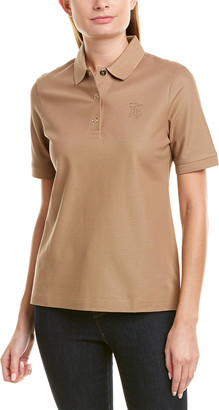 Burberry Monogram Motif Pique Polo Shirt